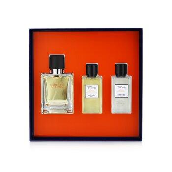 Terre D'Hermes Coffret: Eau De Toilette Spray 50ml/1.6oz + Hair And Body Shower Gel 40ml/1.35oz + After-Shave Lotion 40ml/1.35oz 3pcs