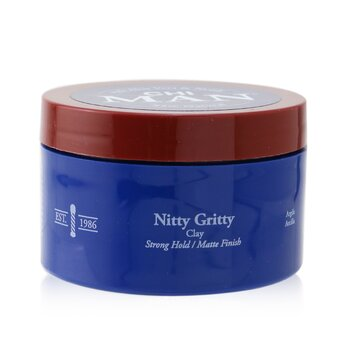 Man Nitty Gritty Clay (Strong Hold/ Matte Finish)  85g/3oz