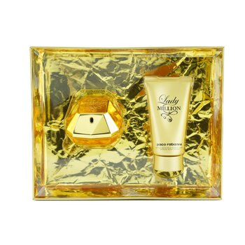 Lady Million Coffret: Lady Million Eau De Parfum Spray 50ml/1.7oz + Sensual Body Lotion 75ml/2.5oz  2pcs