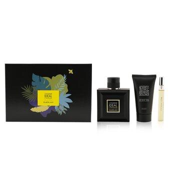 L'Homme Ideal L'Intense Coffret: Eau De Parfum Spray 100ml/3.3oz + Eau De Parfum Spray 10ml/0.3oz + Shower Gel 75ml/2.5oz  3pcs