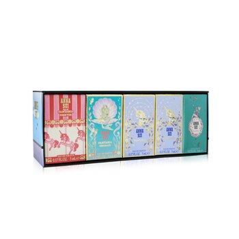 Compact Miniature Coffret: Secret Wish Eau De Toilette 5ml + Fantasia Eau De Toilette 5ml x2 + Fantasia Mermaid Eau De Toilette 5ml + Fantasia Forever Eau De Toilette 5ml - מארז מיני בשמים  5pcs