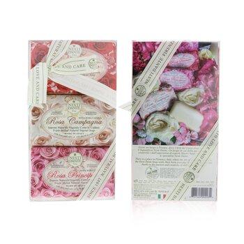Rosa Soap Set (Le Rose Collection) #Rosa Sensuale, #Rosa Champagna, #Rosa Principessa  3x 150g/5.3oz