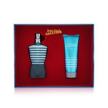 Le Male Coffret: Eau De Toilette Spray 75ml/7.5oz + All Over Shower Gel 75ml/2.5oz  2pcs