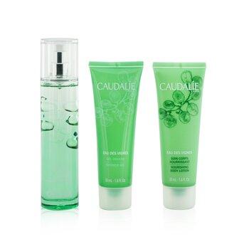 Eau Des Vignes Christmas Coffret: Fresh Fragrance Spray 50ml + Shower Gel 50ml + Body Lotion 50ml (Green Line)  3pcs