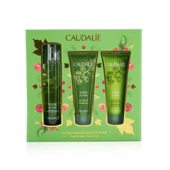 Fleur De Vigne Christmas Coffret: Fresh Fragrance Spray 50ml + Shower Gel 50ml + Body Lotion 50ml (Light Green Line)  3pcs