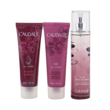 The Des Vignes Christmas Coffret: Fresh Fragrance Spray 50ml + Shower Gel 50ml + Body Lotion 50ml (Purple Line)  3pcs