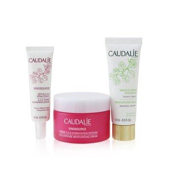 Vinosource Intense Hydration S.O.S Set: Moisturizing Cream 50ml+ S.O.S Thirst-Quenching Serum 10ml+ Moisturizing Mask 15ml  3pcs