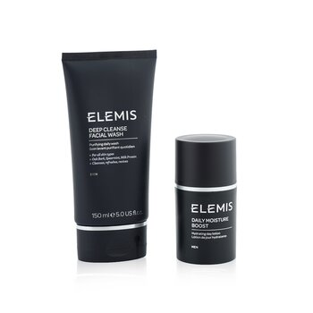 Men's Grooming Duo Set: Deep Cleanser Facial Wash 150ml + Daily Moisture Boost 50ml  2pcs
