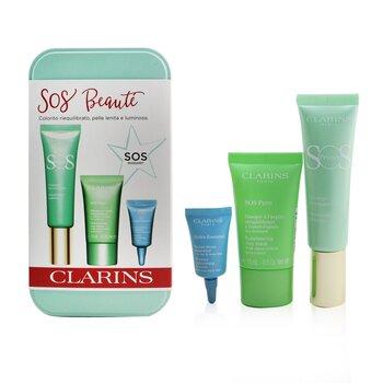 SOS Beaute Set (1x Primer 30ml + 1x Mask 15ml + 1x Lip Balm 3ml)  3pcs