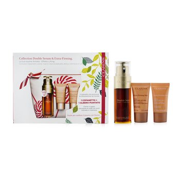 Double Serum Extra-Edition Set: Double Serum 50ml + Extra-Firming Day Cream 15ml + Extra-Firming Night Cream 15ml + Bag  3pcs+1bag
