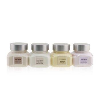 Body Souffle Quartet Set: Ambre Vanille + Fresh Fig + Creme Brulee + Almond Coconut Body Cream - 4x60g/2oz 4x60g/2oz