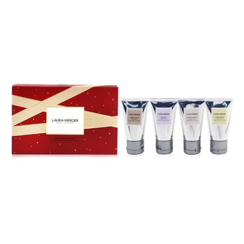 Hand Cream Quartet Set: Fresh Fig + Almond Coconut + Ambre Vanille + Creme Brulee Hand Cream - 4x30g/1oz  4x30g/1oz