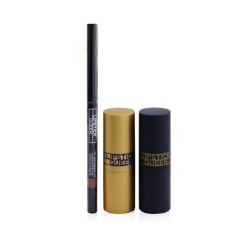 Treat Yourself Mini Lip Trio: 1x Mini Saint Lipstick, 1x Mini Sinner Lipstick, 1x Visible lip Liner)  3pcs