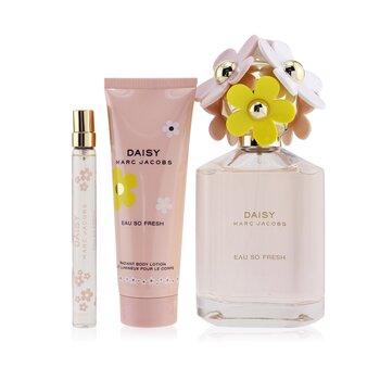 Daisy Eau So Fresh Coffret: Eau De Toilette Spray 125ml/4.2oz + Radiant Body Lotion 75ml/2.5oz + Eau De Toilette Spray 10ml/0.33oz  3pcs