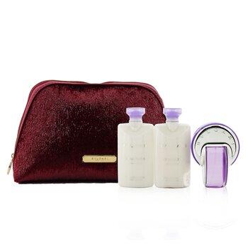Omnia Amethyste Coffret: Eau De Toilette Spray 65ml/2.2oz + 2xBody Lotion 75ml/2.5oz + Pouch  3pcs+Pouch