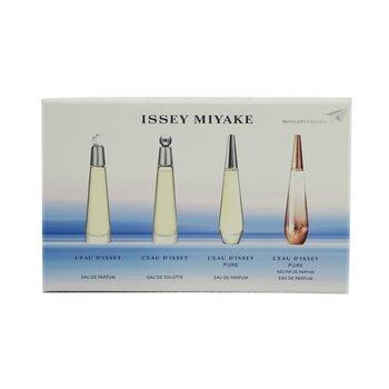 L'Eau d'Issey Mini Coffret: Eau De Toilette 3.5ml +Eau De Parfum 3.5ml +Pure Eau De Parfum 3.5ml +Pure Nectar De Parfum 3.5ml  4pcs