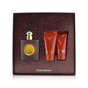 Opium Coffret: Eau De Toilette Spray 50ml/1.6oz +Body Moisturizer 50ml/1.6oz + Luscious Shower Gel 50ml/1.6oz  3pcs
