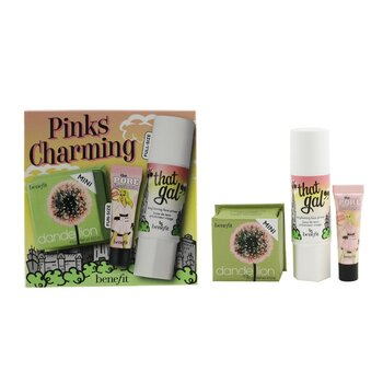 Pinks Charming Set סט פרימר ופודרה (1x That Gal Primer, 1x Mini The Porefessional Pearl Primer, 1x Mini Face Powder)  3pcs