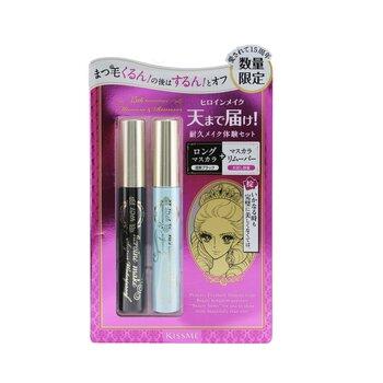 Heroine Make Long And Curl Mascara Super Waterproof + Speedy Mascara Remover Set  2pcs