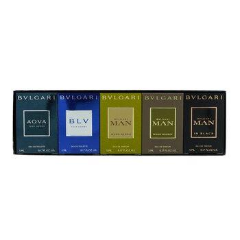 The Men's Gift Collection: Man In Black EDP, Man Wood Essence EDP, Man Wood Neroli EDP, Aqva EDT, Blv EDT  5x5ml/0.17oz