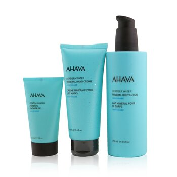 Sea-Kissed Mineral Delights Set: Mineral Body Lotion 250ml+ Mineral Hand Cream 100ml+ Mineral Shower Gel 40ml  3pcs