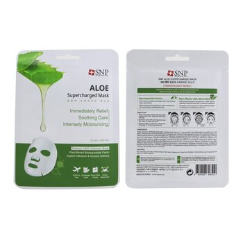 Aloe Supercharged Mask (Moisture & Soothing) (Exp. Date: 08/2021)  10x25ml/0.84oz