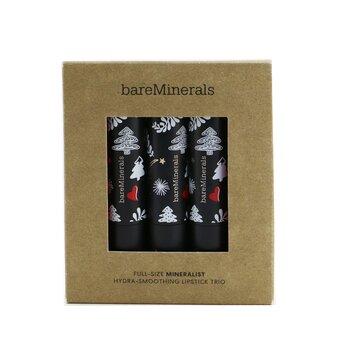 Full Size Mineralist Hydra Smoothing Lipstick Trio (Memory, Purpose, New Harmony)  3x3.6g/0.12oz