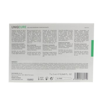 Uniqcure SOS Recovering Concentrate (Suitable For Use After Aesthetic medicine Treatments)  7x2mlx0.068oz