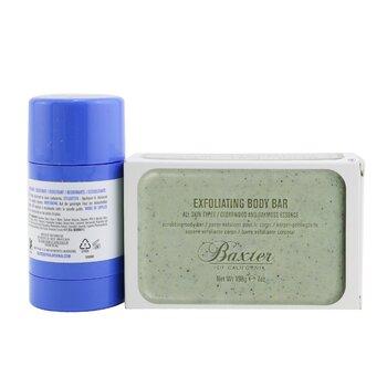 Body Essentials 2-Pieces Full Size Set: Deodorant 75g + Exfoliating Body Bar 198g  2pcs