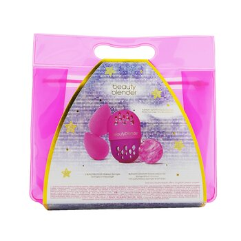 Masters Of The Beautiverse Blend & Protect Set (2x BeautyBlender, 1x Mini BeautyCleanser Solid, 1x Blender Defender)  4pcs