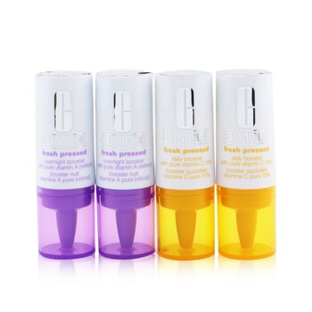 Fresh Pressed Clinical Daily+Overnight Boosters (2x Daily Booster 8.5ml/0.29oz+ 2x Overight Booster 6ml/0.2oz)  4pcs