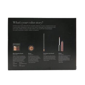 Desk to Datenight (Mini Shadow Quad + Blush + Lip Pencil + Lip Gloss)  4pcs
