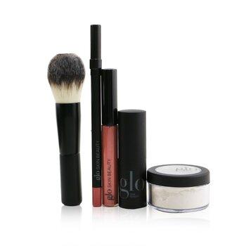 Ready, Set, Kiss Touch Up Kit (1x Mini Setting Powder, 1x Lip Pencil, 1x Lipstick, 1x Lip Gloss, 1x Brush)  5pcs+1bag
