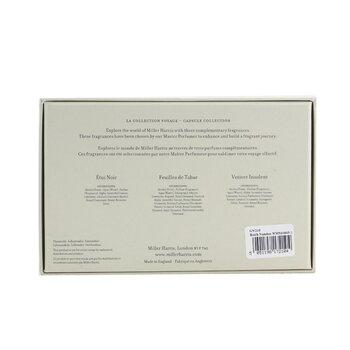 La Collection Voyage Pour Lui Eau De Parfum Spray Collection: Etui Noir + Feuilles De Tabac + Vetiver Insolent  3x14ml/0.47oz