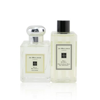 Wild Bluebell Travel Kit: Cologne Spray 50ml/1.7oz + Body & Hand Wash 100ml/3.4oz + Pouch  2pcs+Pouch