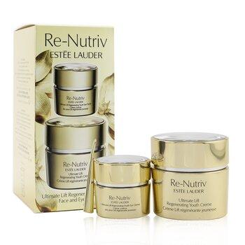 Re-Nutriv Ultimate Lift Regenerating Youth Face & Eye Set: Face Creme 50ml/1.7oz+ Eye Creme 15ml/0.5oz  2pcs