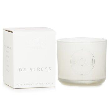 Essentials Aromatherapy Natural Wax Candle Glass - De-Stress (Lavender & Geranium) 100177  85g