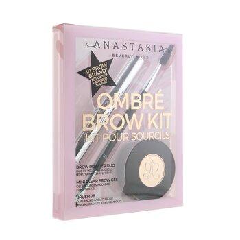 Ombre Brow Kit (Brow Powder Duo + Mini Clear Brow Gel + Brush 7B)  3pcs