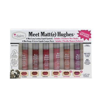 Meet Matt(e) Hughes 6 Mini Long Lasting Liquid Lipsticks Kit  6x1.2ml/0.04oz