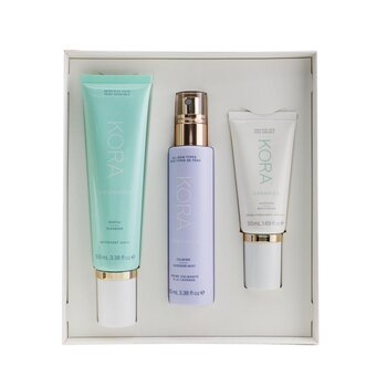 3 Step System - Sensitive Skin: Gentle Cleanser 100ml + Calming Lavender Mist 100ml + Soothing Moisturizer 50ml  3pcs