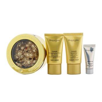 Ceramide Daily Youth Restoring Capsules Set: Capsules 60caps+ Day Cream SPF 30 15ml+ Night Cream 15ml+ Skin Renewal Booste...  4pcs