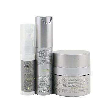Anti-Wrinkle Solutions Set: 1x Stem Cellular Anti-Wrinkle Moisturizer - 15ml/0.5oz + 1x Stem Cellular Anti-Wrinkle Booster Serum - 15ml/0.5oz + 1x Stem Cellular Anti-Wrinkle Eye Treatment - 7.5ml/0.25oz  3pcs