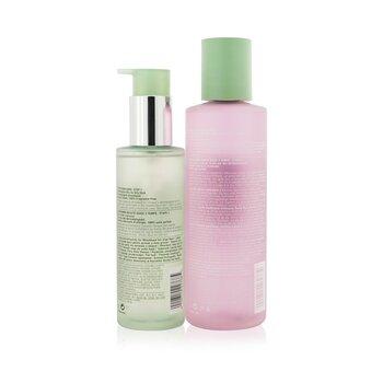 Cleansing + Exfoliation Set: Clarifying Lotion 3 400ml/13.5oz + Liquid Facial Soap Oily Skin Formula 200ml/6.7oz  2pcs