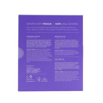 Sensitive Skin Rescue Kit: UltraCalming Cleanser 50ml/1.7oz + UltraCalming Mist 50ml/1.7oz + Calm Water Gel 15ml/0.5oz  3pcs