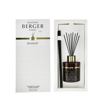 Clarity Burgundy Pre-Filled Reed Diffuser - Amber Powder  115ml/3.8oz