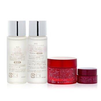 Pitera Experience Kit 2: Clear Lotion 30ml + Facial Treatment Essence 30ml + Skinpower Cream 15g + Skinpower Eye Cream 2.5g  4pcs