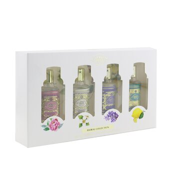 4711 Floral Collection Eau De Cologne Coffret: Original EDC + Jasmine EDC + Rose EDC + Lilac EDC 4x8ml/0.27oz