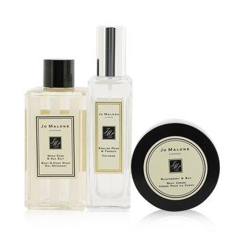 Fragrance Layering Collection: English Pear & Freesia Cologne Spray 30ml + Blackberry & Bay Body Cream 50ml + Wood Sage & Sea Salt Body Wash 100ml  3pcs