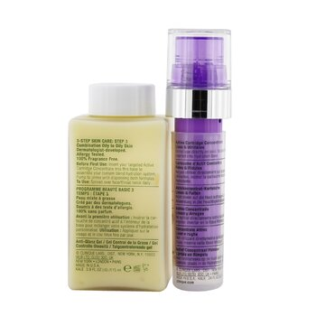 Clinique iD Dramatically Different Oil-Control Gel + Active Cartridge Concentrate For Lines & Wrinkles (Purple)  125ml/4.2oz