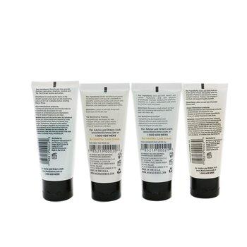 Menscience 5件套旅行套裝:洗面奶59ml+洗面奶59ml+剃鬚膏57g+鬚後59ml+洗髮水59ml  5pcs+1bag
